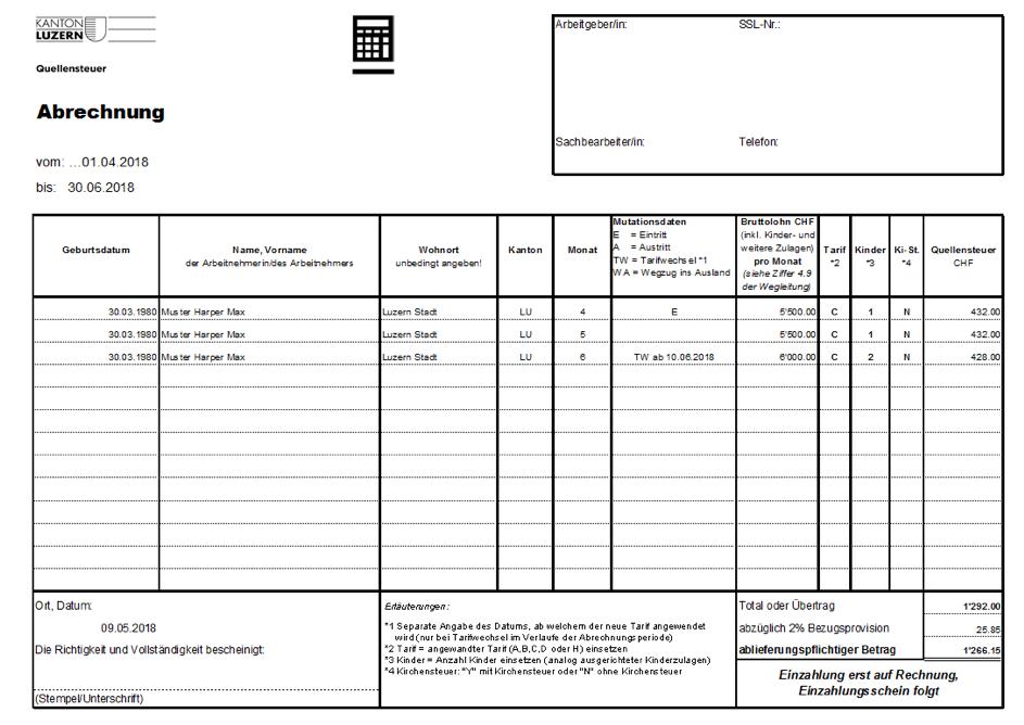 Quellensteuer Anmeldung Schritt Für Schritt Inkl Muster