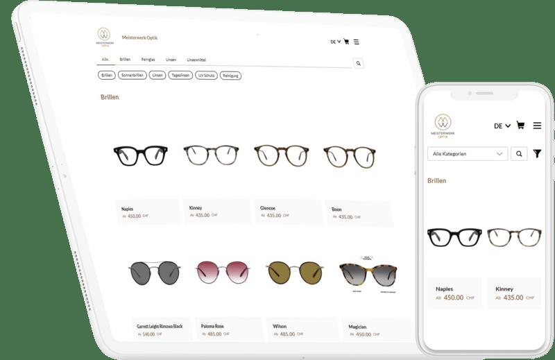 Online Shop erstellen mit KLARA: Das Beispiel von Meisterwerk Optik