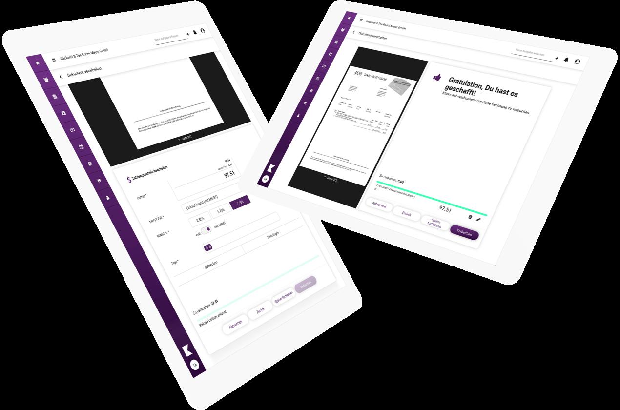 klara-website-device-ipads-buchhaltung-rechnung-bezahlen